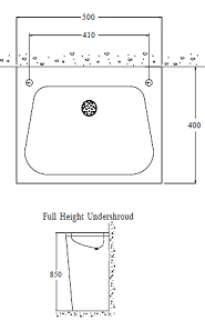 wash basin with full height shroud